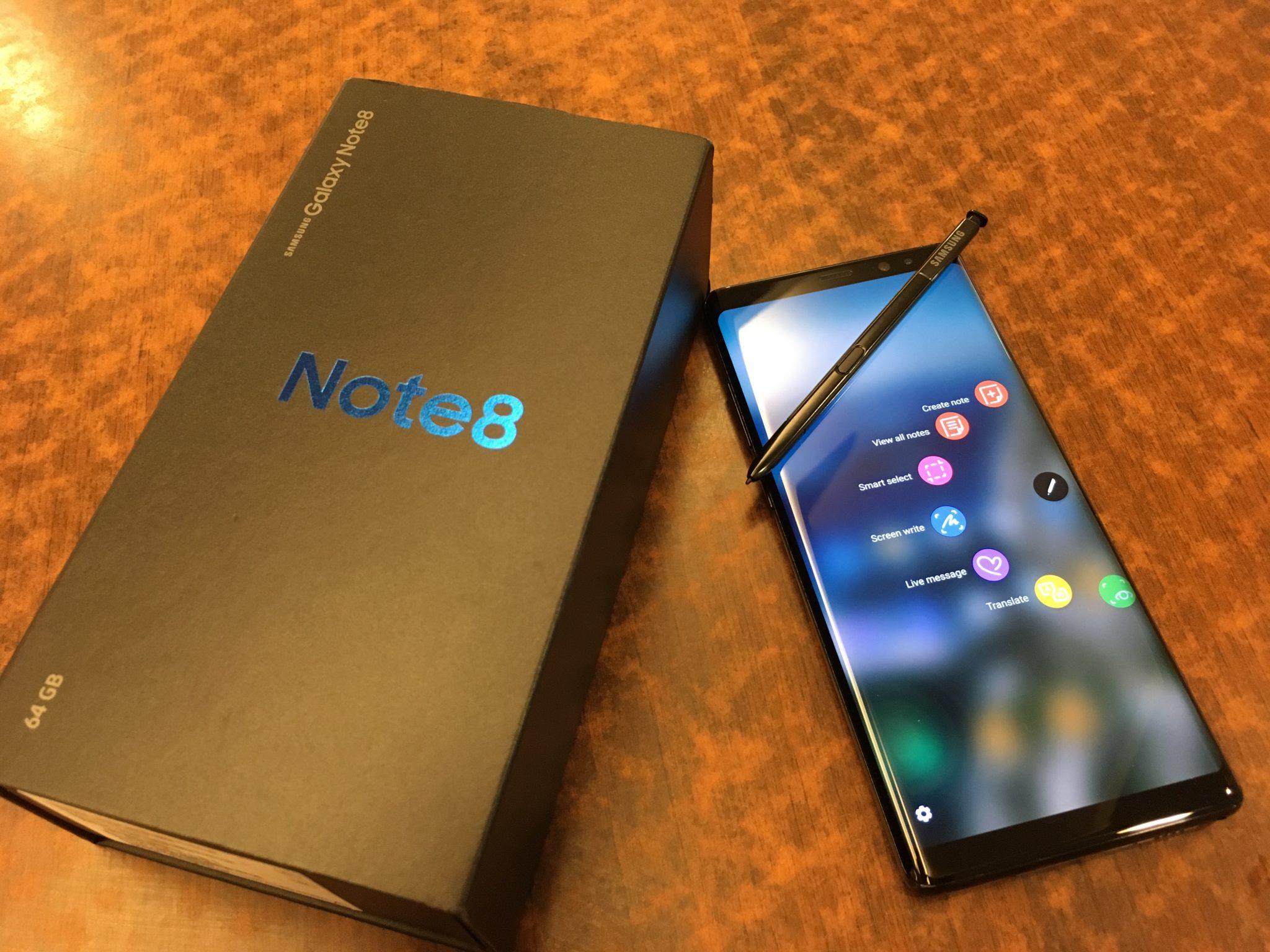 المشاكل الشائعة لجهاز Samsung Galaxy Note 8